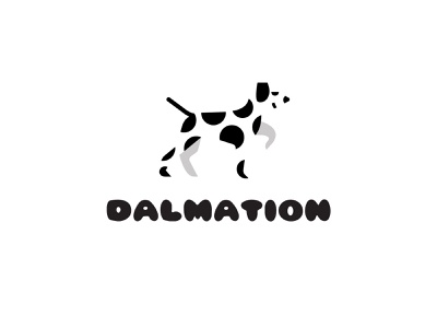 DALMATION 2 dalmation animal design bold geometric logodesign modern logo