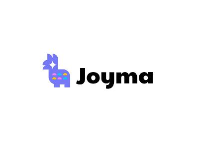 Joyma technology animal simple geometric logodesign modern logo