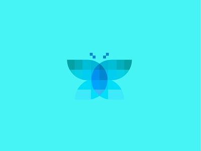 butterfly butterfly technology branding geometric logodesign modern logo