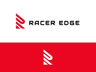 Racer Edge automotive race racing letter r branding simple geometric logodesign modern logo