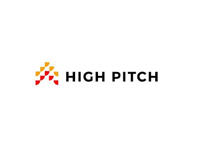High Pitch construction roof house branding bold geometric logodesign modern logo