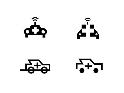 Car + Medical sound mobile house car doctor medical branding geometric logodesign modern logo
