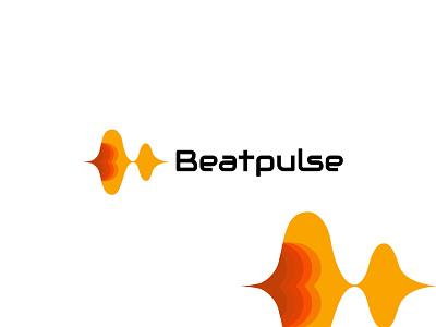 Beatpulse bass sound beats music branding bold geometric logodesign modern logo