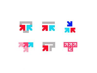 Letter T + Arrow letter t arrow letter design branding bold geometric logodesign modern logo