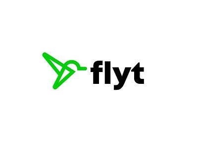 Flyt #2 bird logistics fly simple geometric logodesign modern logo