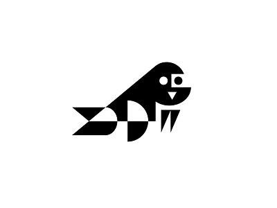 walrus walrus animal design bold geometric logodesign modern logo