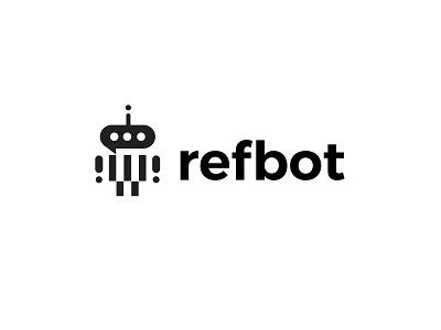 Refbot design branding bold geometric logodesign modern logo