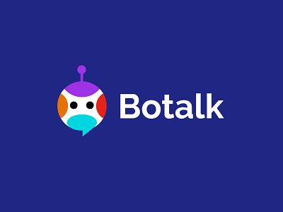 Botalk social design geometric logodesign modern logo