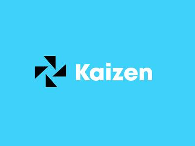 Kaizen consultancy branding design bold geometric logodesign modern logo