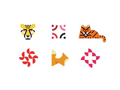 Pt.2  LogoLounge 13 submissions tiger fox cheeta abstract animal simple design bold geometric logodesign modern logo