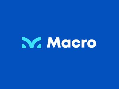 Macro letter m branding simple bold geometric logodesign modern logo