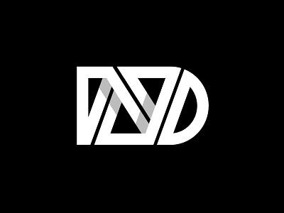 ND geometric bold logodesign illustrator monogram letters nd