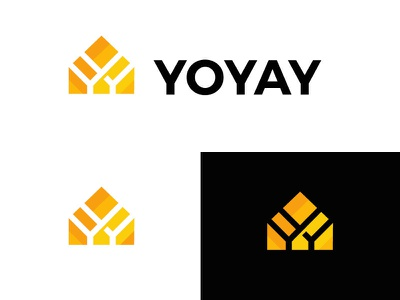 Yoyay logodesign logo negative space modern geometric bold build fix home letters y house constuction