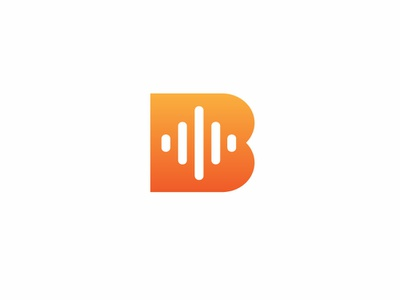 Beatpulse app sound volume music design bold geometric logodesign modern logo