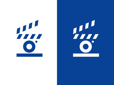 director's board / camera / cinema directors studio entertainment film cinema movie simple design geometric logodesign modern logo