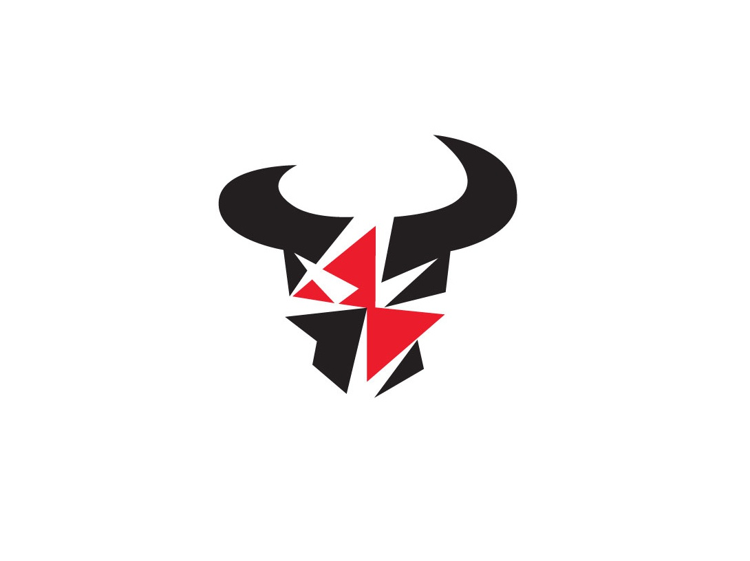 Charge/Bull charging charge battery automotive car lightning bolt thunder bull animal design bold geometric logodesign modern logo