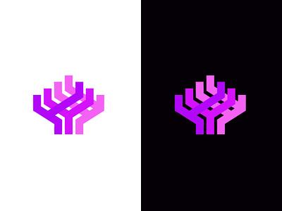 Coral Reef aquarium reef ocean coral bold design geometric logodesign modern logo