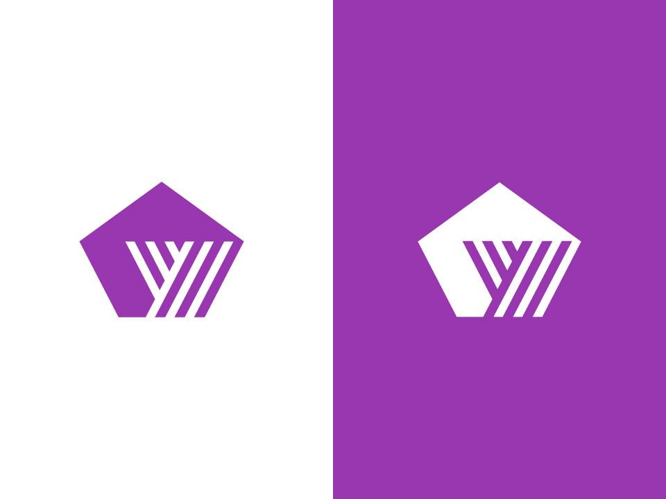 letter y / pentagon branding y logo letter y architecture letter simple design bold geometric logodesign modern logo