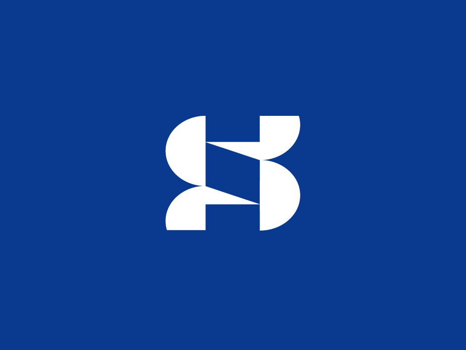 S S architecture construction monogram branding letter simple design bold geometric logodesign modern logo