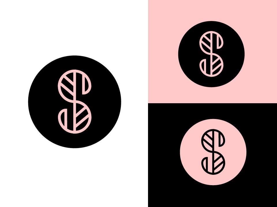 S + leaf skin beauty health aromatherapy letter s branding letter simple design geometric logodesign modern logo