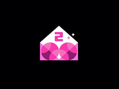 2 Dribble invitations dribbble invite invitations dribbble design geometric logodesign modern logo