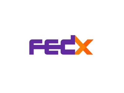Fedx 2 negative space arrow logo design fedex logistics simple design logodesign modern logo