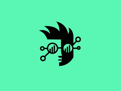 Nerd Challenge concept analytics glasses nerd technology design geometric logodesign modern logo