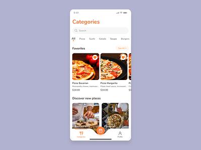 One Food delivery food quarantine app mobile ux ui design