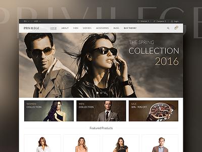 Privilege - Fashion Store uiux graphic design web design web store fashion privilege