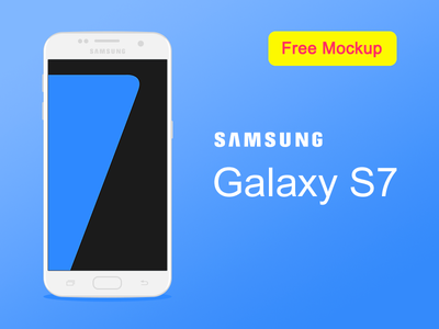 Samsung Galaxy S7 Flat Mockup Free samsung vector ux ui mobile logo graphiс flat design branding blue app