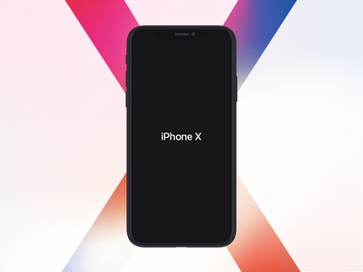 iPhone X Flat Mockup Free graphic black mockup mobile design app flat free iphone x iphone