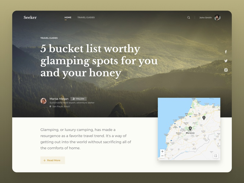 Seeker logo design ui ux vacation guide travel