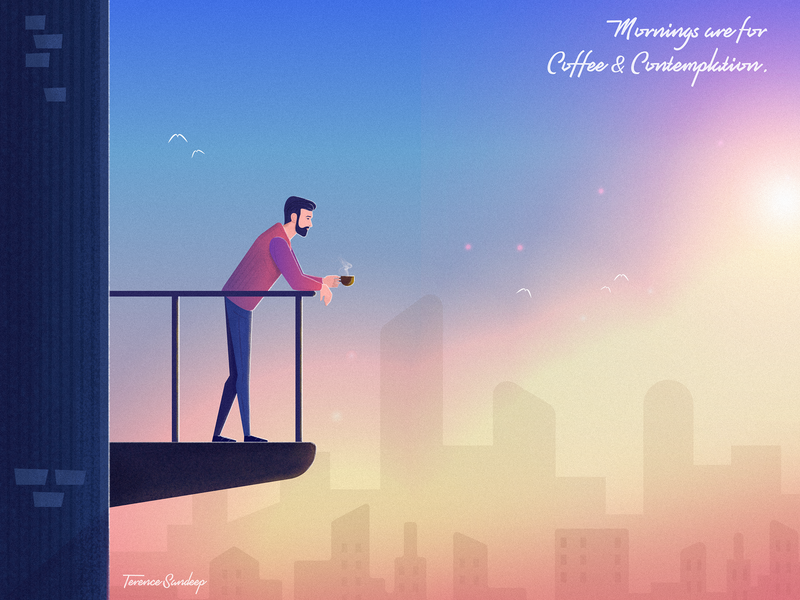 Mornings Sunrise And Coffee By Terence Sandeep On Dribbble