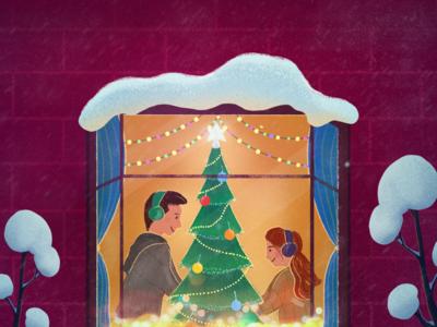 Merry Christmas - Happy Holidays - Christmas card
