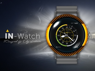 IN-Watch | Concept Yellow | App Speed app animation icon ux watch clock branding vector illustration design logo concept yellow in-watch