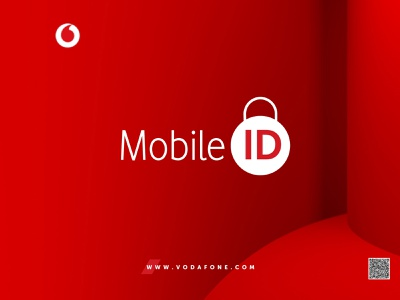 Mobile ID | Vodafone vodafone vector illustration design concept brandbook mobile mobile id