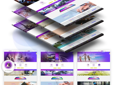 ULTRA Insurance | SIte Concept web animation app icon ultra insurance ux ui branding vector illustration design logo site concept