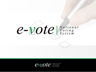 E-Vote | Comcept ux ui site shop web typography icon branding vector illustration design logo concept e-vote