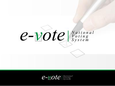 E-Vote | Comcept ux ui site shop web typography icon branding vector illustration design logo concept e-vote