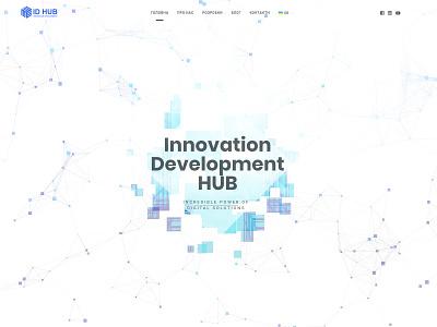 ID Hub | Site Concept flat website web animation hub typography app ux icon ui branding vector shop illustration design logo site concept site concept id hub