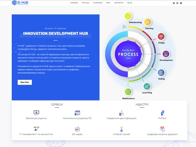 ID Hub | Site Concept hub website app flat id web animation ux ui icon branding vector shop illustration design logo site concept site concept id hub