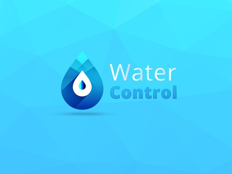 Water Control | Logo Concept typography identity ios minimal lettering type flat animation web app ux icon ui branding vector illustration design logo site concept