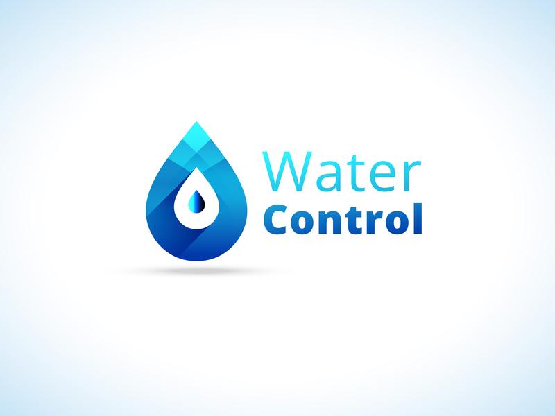 Water Control | Logo Concept illustrator ios identity lettering type website flat web typography ux ui icon branding vector site illustration design logo concept water control
