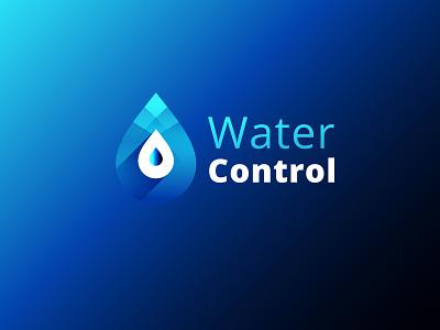 Water Control | Logo Concept flat ios identity app minimal lettering website typography ux ui branding vector design site concept water control illustration character design calendar logo