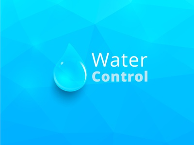 Water Control | Logo Concept typography site identity minimal ios lettering type flat ux vector illustration animation web ui icon branding design logo concept water control