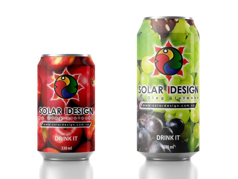 Solar Design Juice typography pack design pack branding vector illustration design logo concept solar design juice can solar design juice
