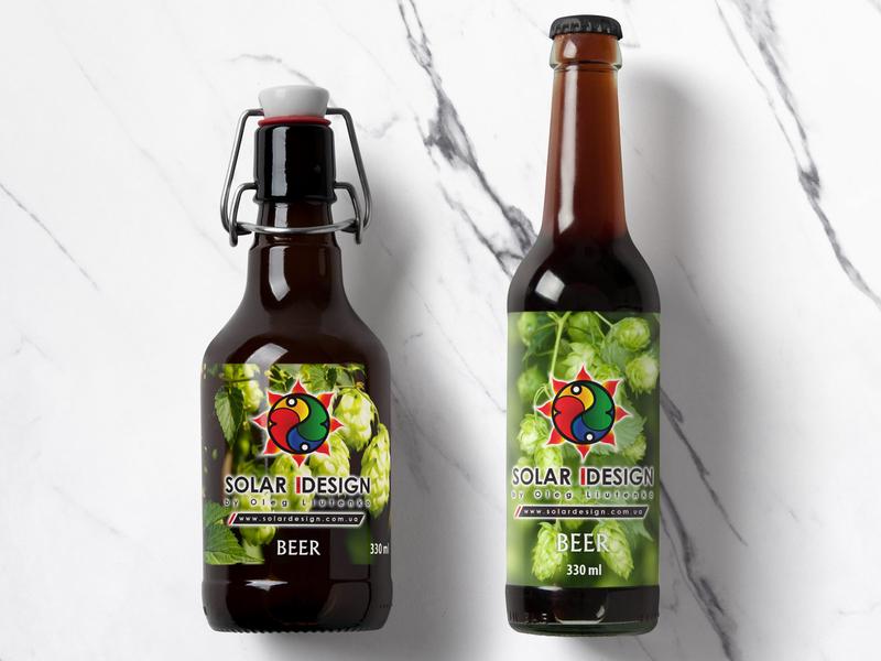 Solar Design BEER package design pack branding vector illustration design logo concept beer solar design solar design beer