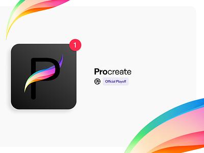 ProCreate App Icon logo brand interface getcreativewithprocreate procreate ipad apple app design app vector branding illustration design ui