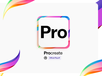 ProCreate App Icon | 2 web design interaction interface type ux ui logodesign layout illustration apple vector app ipad procreate getcreativewithprocreate branding brand logo