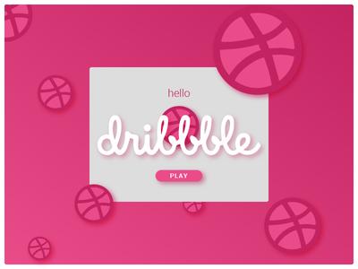 Dribbble Debut ui dribbble thank you design first shot debut